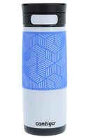 Термокружка Contigo Metra Transit Autoseal Stainless Opaque White with Periwinkle 470 мл 74171
